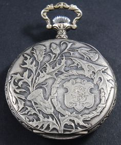 Ornate Mother of Pearl Cyma Vintage Pocket Watch By French Artist FRAINIER c1900…