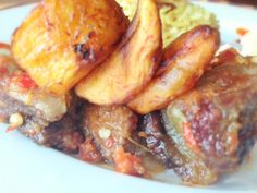 peppered beef and dodo
