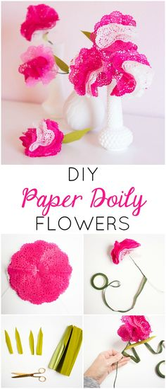 paper doilies flowers