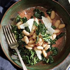 Pack in the protein with white bean and kale to make a heart-healthy salad. Top it with anchovy olive oil dressing and grated Parmesan.