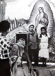 Pilgrims at the shrine of Our Lady of Guadalupe, Mexico City, 1950s [ MexicanConnexionforTile.com ] #culture #Talavera #Mexican
