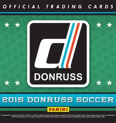 2015 Donruss Soccer Trading Cards Hobby Box PreOrder Due for release Football Trading Cards, American Football, Soccer, Letters, Box, Sports, Prints, Hs Sports, Futbol