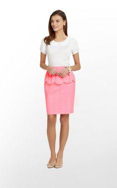 fun neon gingham peplum skirt for a summer party!