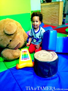 Playtime with Cree at a children's museum - gotta have play dates.