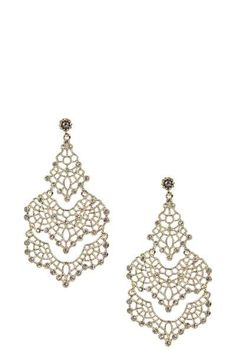 Simple classic chandelier earrings are a must have in any wardrobe. Perfect for a night out and especially beautiful with a simple LBD.