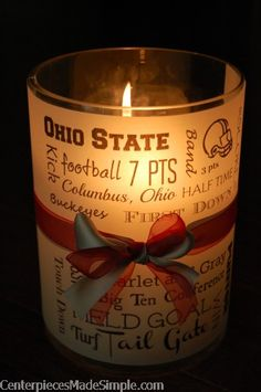 Gifts for banquet/ticket day? Football Banquet, College Football Teams, Ohio State University, Ohio State Buckeyes, Rehearsal Dinner Centerpieces, Ohio State Crafts, Wrestling Mom, Banquet Ideas, Student Awards