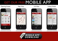Free Real Estate Search App for mobile devices anywhere in the world.  Use Agent code: KW1DZU83C