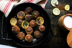One Pan Roasted Mushrooms with Lemon Butter Sauce