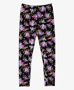 Floral print leggings - Forever 21 girls