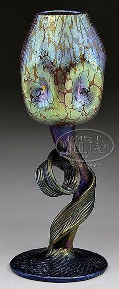 Important Lamp & Glass Auction, Day 1 - James D. Julia Loetz Tulip vase