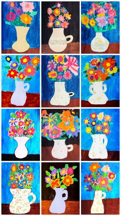 Discover thousands of images about Matisse, flors Art Lessons For Kids, Art Lessons Elementary, Art For Kids, Art Children, Classroom Art Projects, Art Classroom, Spring Art Projects, Projects For Kids, Fleurs Van Gogh