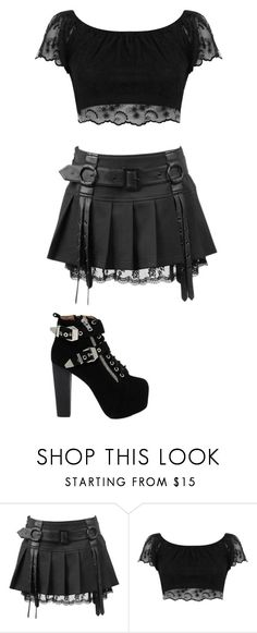 """Untitled #163"" by crystalraven13 ❤ liked on Polyvore featuring Miss Selfridge and Jeffrey Campbell"