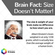 #Fact of the Day: Your brain size & weight does not explain how smart you are. #health