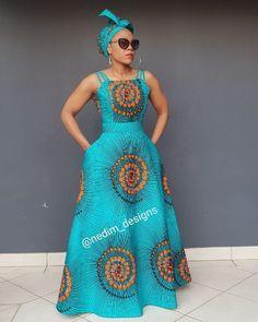 African Print Maxi Dress @ nedim_designs +27829652653   -  #africanfashion #africanfashionAnkara #africanfashionIllustration #africanfashionWhite
