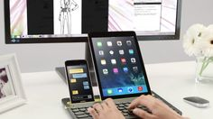 This is so cool. A keyboard that connects to PC, tablet, AND phone. #Logitech