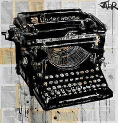 "Saatchi Online Artist Loui Jover; Drawing, ""the underwood"" #art"