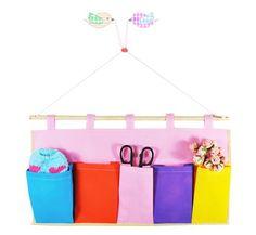 Cute Multi Pocket colorful storage bag hanging door hanging bag