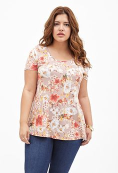 Floral Crisscross-Back Top | FOREVER21 PLUS - 2000120474