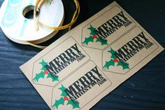 Downloadable, Homemade Gift Tags