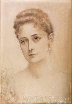 olga-the-white-rose-of-russia:  The portrait of Nicholas II's spouse, drawn by her sisterElisabethin 1897