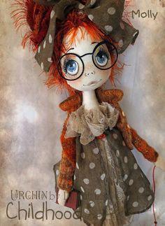 OOAK Art Doll Molly Urchin Childhood от lilliputloft на Etsy