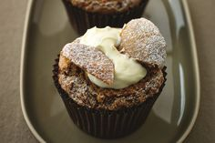 You won't feel like you're eating light when you bite into Lorraine Pascale's Skinny Caffe Latte Butterfly Cakes, but you are! These cupcakes substitute Greek yogurt for cream cheese and egg whites for whole eggs in the batter.  Minimal butter is used in the recipe, and you can tell from the ingredients alone that they are far less fattening than your usual cupcake!