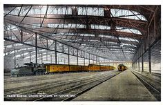 Union Station Train Shed postcard.  I can remember putting my grandmother on the train.