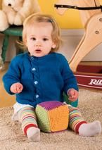 Baby Offset Cable Cardigan
