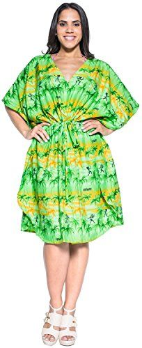 Smooth Likre Casual Beach Hawaii Aloha Lounge Wear Caftan Short Dress Maxi Green Valentines Day Gifts 2017. This is surely a great product!