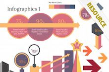 Infographics PowerPoint Template. Free PPT Infographic Resource.