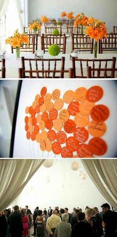 Orange and Green Reception Ideas