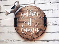 Lazy susan, lazy susan wood, wooden lazy susan, lazy susan turntable, lazy susan vintage, rustic decor, farmhouse decor, wedding gift
