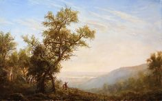 Few have mastered the style of the Hudson River School painters. This was done by a young man Erik Koeppel who teaches at the Hudson River Institute. He is soon to release a DVD of how we painted this painting and takes you through all the steps. http://www.hudsonriverdvd.com