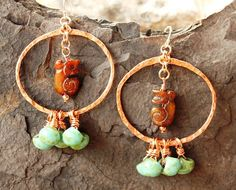 Handmade Hammered Copper Wire Hoop by BodaciousBaubleNBead on Etsy, $24.50