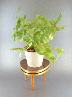 Small Plant Stand Small Tripod Mini Flower by AntiqueTransylvania