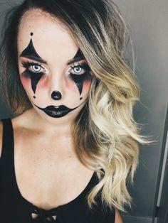 Killer Clown Halloween Makeup #halloween #costume #makeup #lastminutecostume #clowns