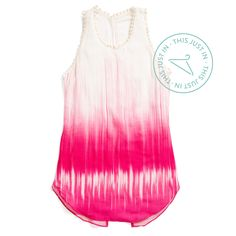 A breezy tank in a bright sorbet pink makes for an iconic summer style statement. #ThisJustIn
