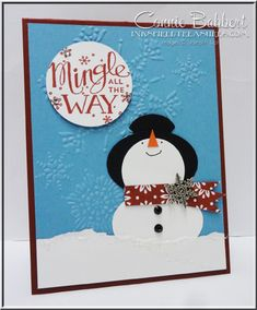 Stamp Club members this month enjoyed making this punch art Snowman for the front of their Gift...