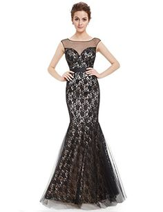 Ever Pretty Juniors Formal Sleeveless Mermaid Long Prom Gown 10 US Black >>> Click image for more details. (This is an affiliate link and I receive a commission for the sales)