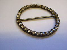 1 1/2″ Sparkle Diamante Round Buckle GB026