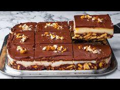 Surprinzător de delicios și fără coacere! Desert incredibil de ușor de făcut - YouTube No Cook Desserts, Easy Desserts, Flan, Cake Toppings, Melted Butter, Desert Recipes, Biscuits, Sweets, Baking