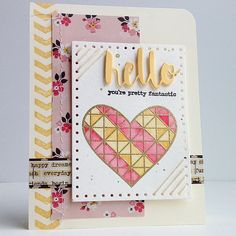 Lovely card created by Diane Jaquay using the October 2015 card kit by Simon Says Stamp.