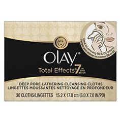 Olay Total Effects Lathering Cleansing Cloths 30 Count Crest Whitening, Dry Flaky Skin, Pore Cleanser, Stained Teeth, Anti Aging Moisturizer, Pores, Dull Skin, Deep, Cleaning