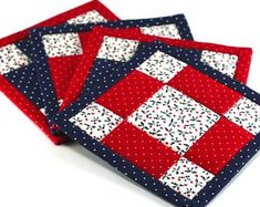 Quilted Improv Mug Rug Quilted Snack Mat Quiltsy Handmade Modern Log Cabin Candle Mat