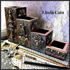 An Altered Desk Organizer