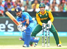 Virat Kohli batted circumspectly and shared a 100-run stand with Shikhar Dhawan.