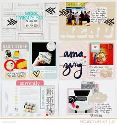 #papercraft #scrapbook #layout  Project life