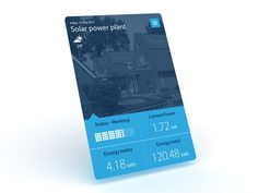 Solar power plant widget Image