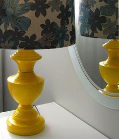 spray painted lamp base