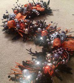 Halloween Garland Halloween Decoration Ball by AllMeshedUp2014